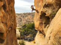 Rappel in the stone house