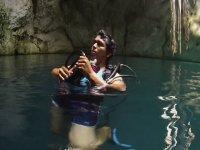 scuba diving in cenotes