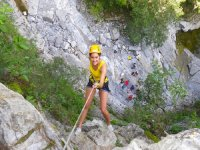 rappelling in canyons