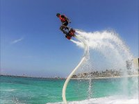 Trying luck on the flyboard