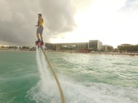 Keeping balance in playa del Carmen