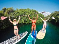 SUP Tour through Casa Cenote