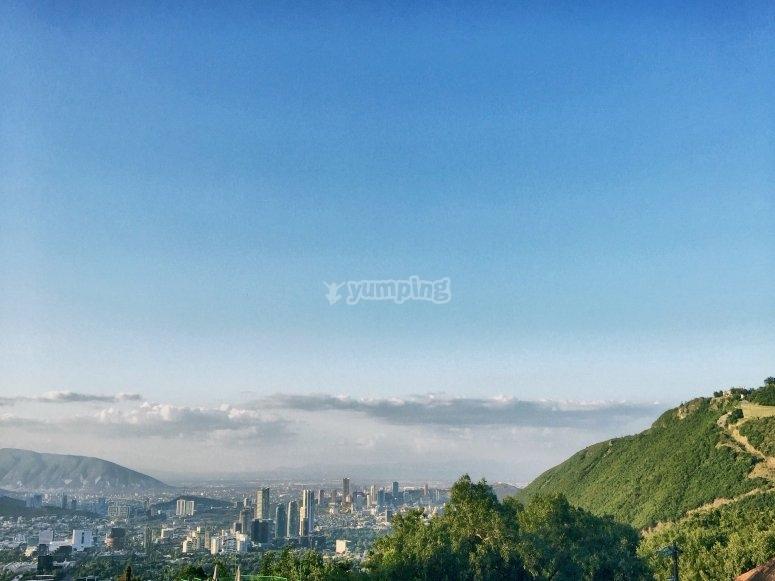 Vistas de Monterrey desde Chipinque