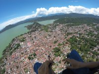 Panoramic view from paragliding