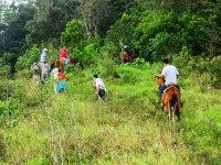 Horseback riding route