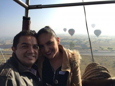 Balloon flight Tequisquiapan with cutomized canvas