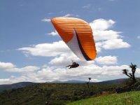 Aterrizaje de parapente