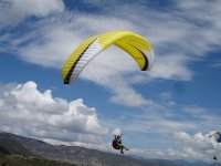 Flight with a paraglider