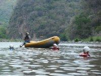 Enjoying rafting