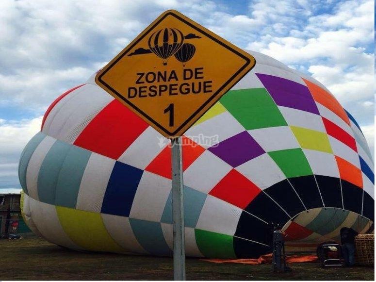 Balloon after landing