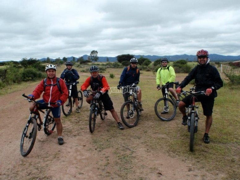 Group cyclists