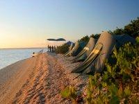 Camping en la playa