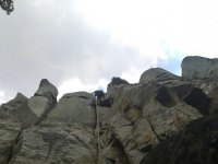 Climbing in rock
