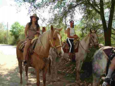 Horseback riding in the Santiago Mountains