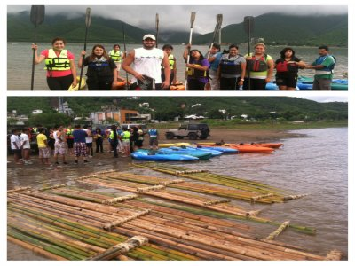 Santiago dam journey with bamboo raft