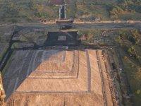 Vista aerea de Teotihuacan