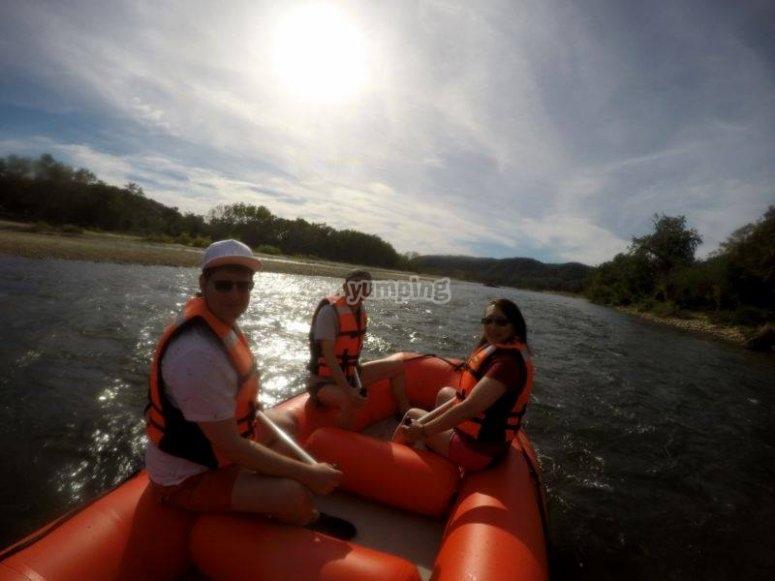 Rafting con amigos en Huatulco