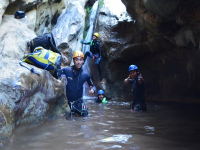Canyoning at Las Bocas canyon in Malinalco