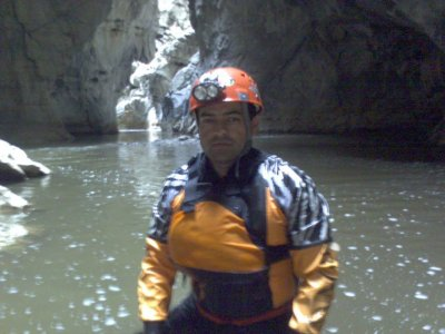 Caving medium level in Río San Jerónimo