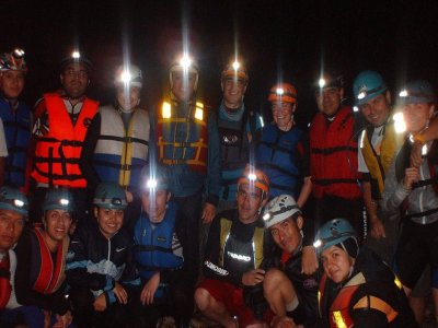 Caving session: caves of the Choncoatlan river