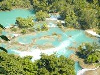blue water cascades