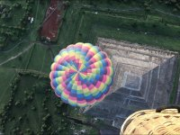 View of the pyramid from the balloon