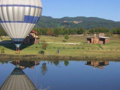 Romantic balloon ride in Hidalgo and lodging