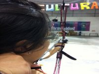 Demonstration of Archery at the Pan American College. February 25