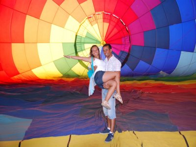Private hot air balloon ride for 2 in León