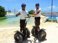 Get on the segway