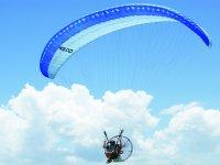Flying on Paramotor