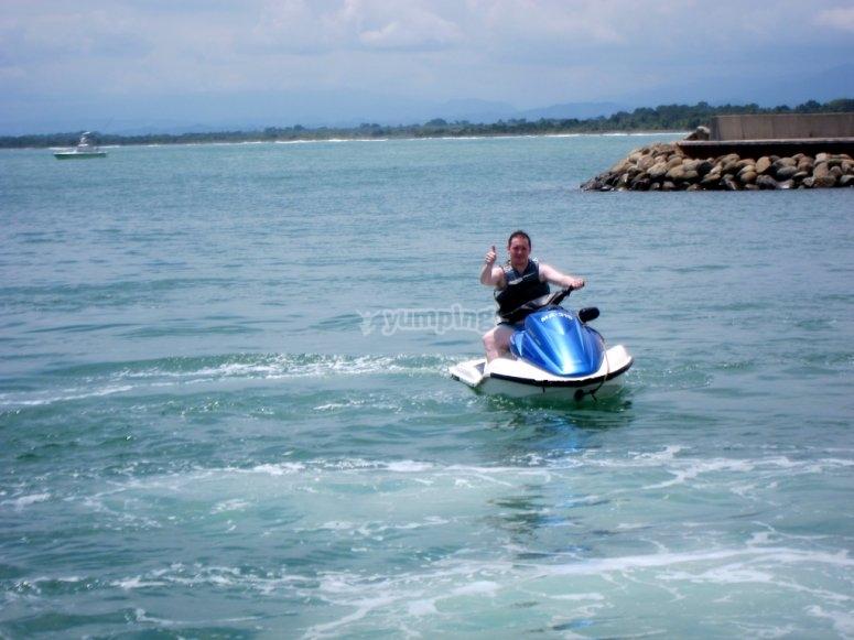 riviera maya moto azul