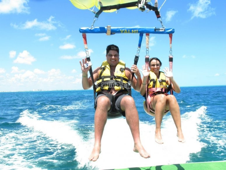 Parasailing in couples