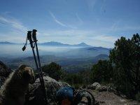 Los volcanes desde el pico del aguila