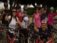 Group of cyclists Puebla
