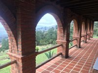 The porch overlooking the Tlaxco mountain range