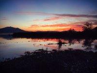 Atardecer en el lago de Chapala