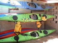 Equipo de kayaks