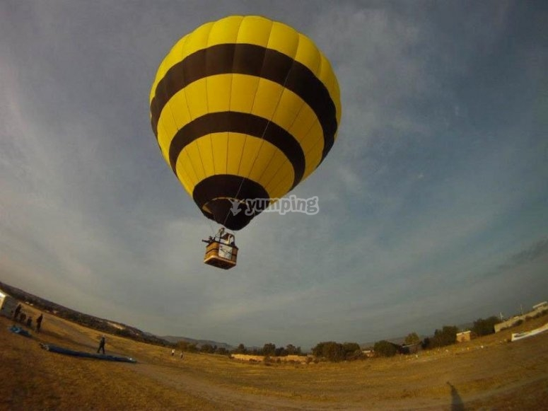 Flight for two in a balloon