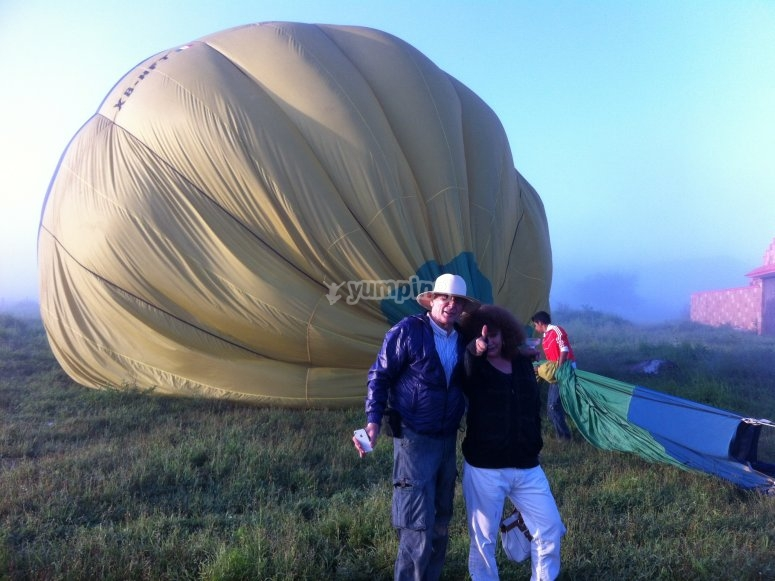 During balloon inflation
