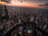 Cross the city quickly by helicopter