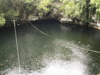 Arriving at the cenote