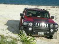 Hummer on the beach
