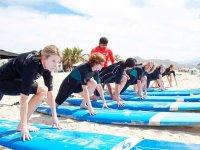 Clases grupales de surf