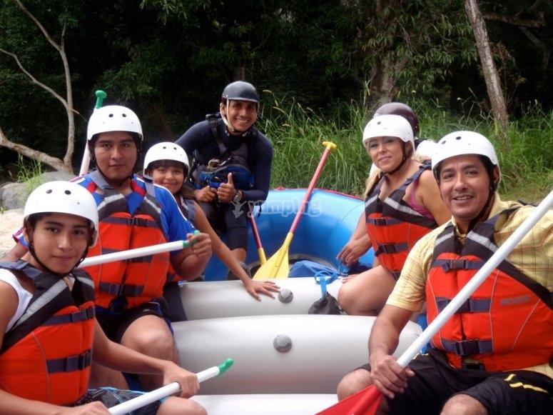 Equipos de rafting