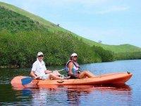 Resting in the Kayak