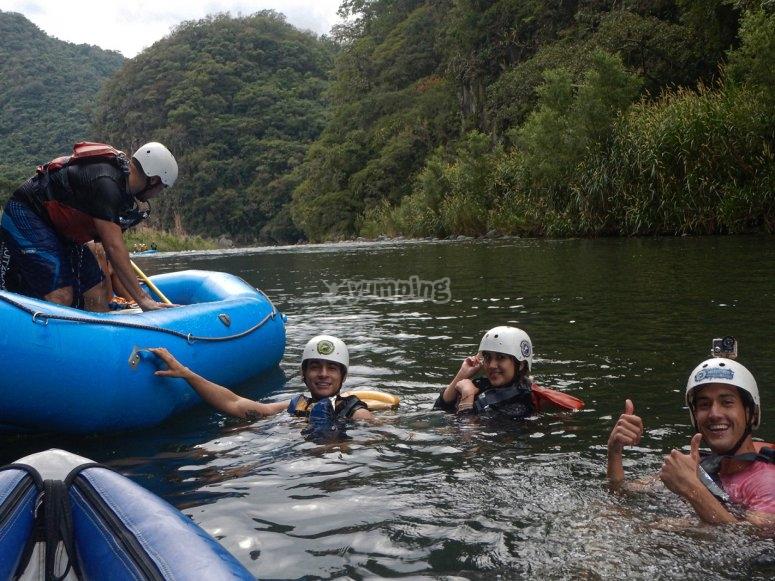Rafting on the coast