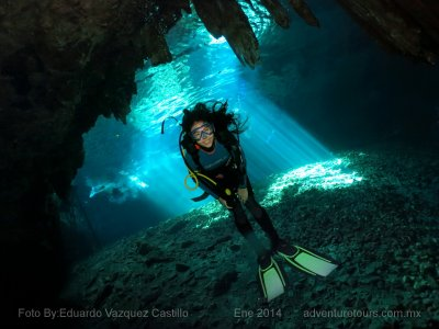 2 dives in 2 cenotes in Yucatán with food