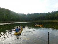 Enjoy the kayaks with friends