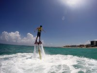 flying in the Caribbean